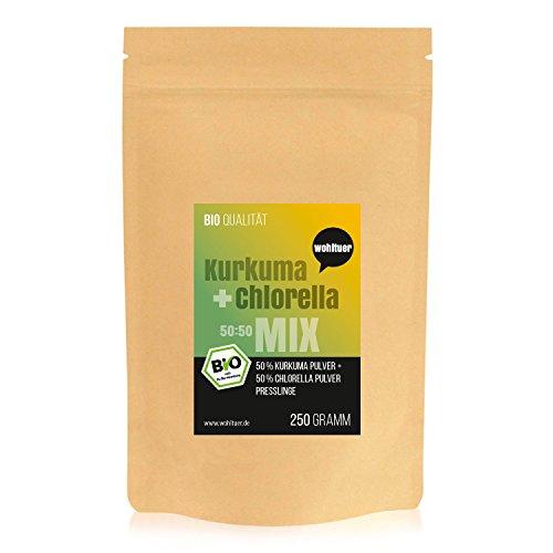 Wohltuer Bio Kurkuma + Chlorella Bio Algen Superfood Mix Tabletten in Rohkostqualität 250g
