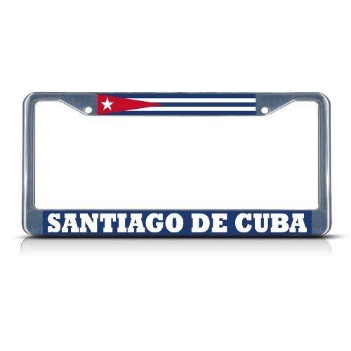 Preisvergleich Produktbild Teisyouhu Kuba Santiago de Cuba Schwere Funny Nummernschild Bilderrahmen Auto Tag Halterung für Herren