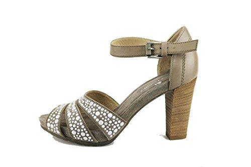 JANET SPORT sandali donna 36 EU beige camoscio pelle borchie AG410