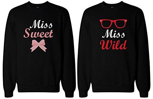 BFF regalo, accesorios, camisas–dulce y salvaje suéteres para Bff mejores amigos Bff