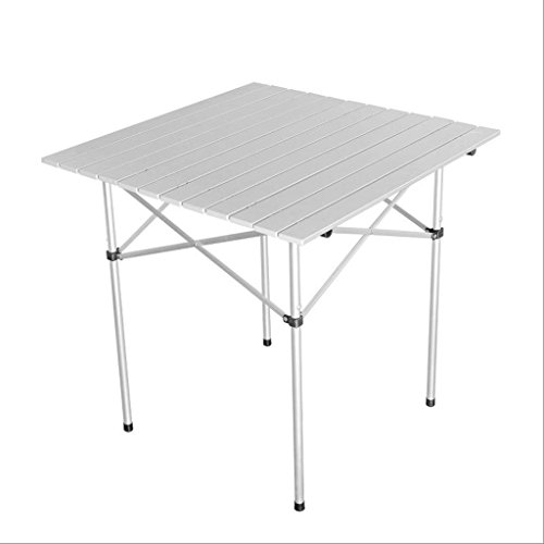 GHM Faltbares Tisch-Aluminium im Freien tragbares kampierendes Picknick-Grill-Multifunktionstische 2.9KG (Farbe : Silber)