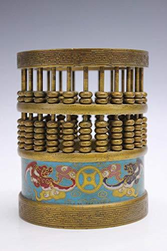 Chinesischer Abakus aus Bronze und Cloisonne Verzierung China Kultur Asien Lifestyle