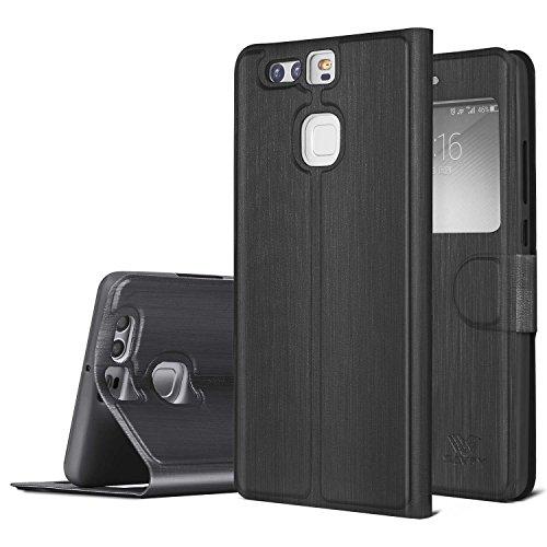 Huawei-P9-2016-Wallet-Case-SAVFY-Slim-Flip-Leather-Smart-Window-View-Wallet-Case-for-Huawei-P9-2016