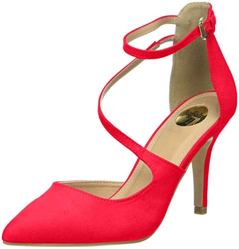 Clogs Pumps (Buffalo Shoes Damen 315349 Riemchensandalen, Rot (Red 000), 37 EU)