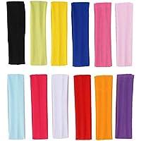Fasce in Cotone Yoga,Fascia Elastica Capelli Sport Fascia per Le Donne Ragazze per Sport,Yoga,Pilates,Ciclismo 12 Colori