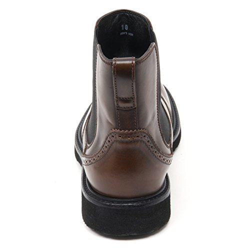 B8468 beatles uomo HOGAN H217 ROUTE scarpa stivaletto marrone shoe boot man Marrone