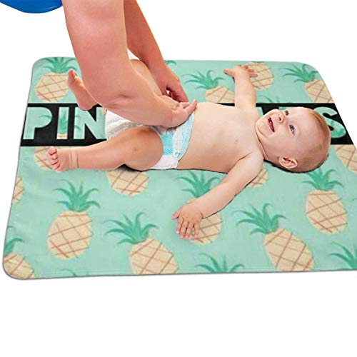 Zcfhike Baby Portable Diaper Changing Pad Pineapple Urinary Pad Baby Changing Mat 31.5' x25.5''