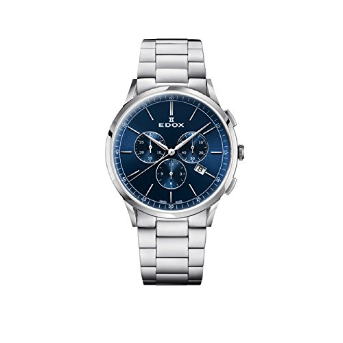 EDOX Men's Chronograph Quartz Watch with Stainless Steel Strap 10236-3M-BUIN
