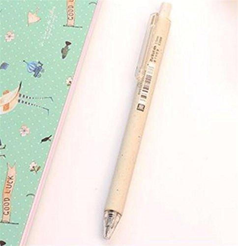 Driverder Schulmaterial 3 Teile / Satz Schnell Trocknende Gel Stift Kit Unterzeichnung Stift Student Schreibwaren (Beige) -