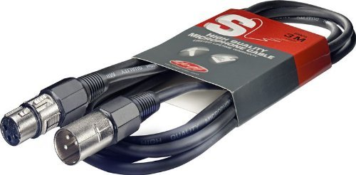 High Quality Mikrofonkabel 3 Meter - 1x XLR Male / 1x XLR Female - Mikrokabel - XLR-Kabel