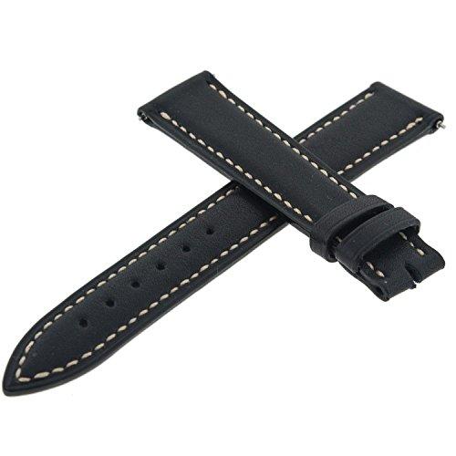 Franck Muller Geneve 20F Leder schwarz 16–14mm Armbanduhr Band