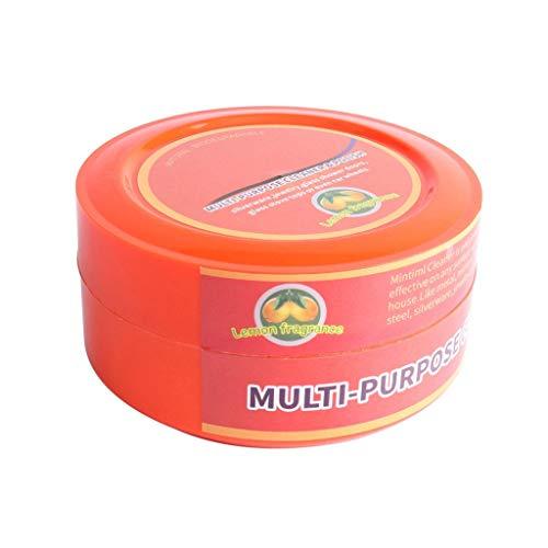 Laicai Multifunktions-Reinigungswachs, wasserlose Reinigung, antistatisch, Zitronengeschmack, biologisch abbaubar, natürlicher Mehrzweckreiniger Brilliaire-Polierer + 4 Reinigungsschwämme Kombination