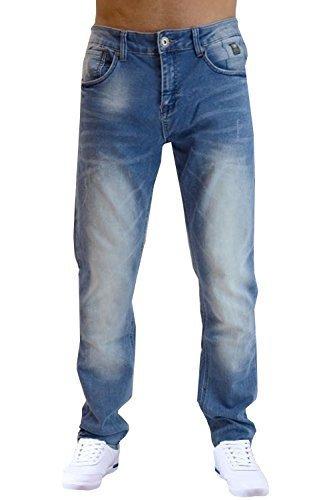 Crosshatch Hommes Jeans Coupe Slim Joggan Neuf Jeans Extensible Décoloré Designer Pantalon Délavé Léger