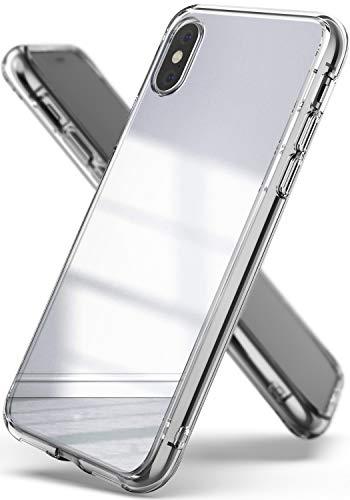 Ringke Mirror Kompatibel mit iPhone XS Hülle, Hell Reflektierender Luxuriöser Spiegel Case Schutzhülle Dünne Stoßdämpfend Stylische Handyhülle Cover für iPhone XS Schutzhülle - Silber Spiegel Iphone