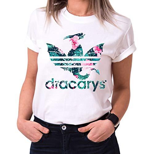 3d392ab6d Dracarys Aurora - Camiseta para Mujer de Cuello Redondo Targaryen Thrones  Game of Stark Lannister Baratheon