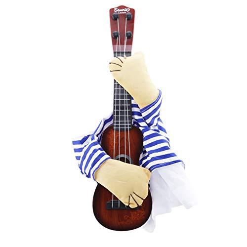 Up Hunde Für Dressing Kostüm - Toporchid Lustige Haustier Gitarre Rock Sänger Cosplay Hund Kostüm Gitarrist Dressing Up Party Hund Kostüm Kleidung Für Hunde Katzen Geschenk (L)