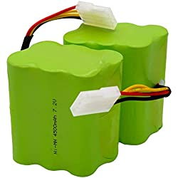 SODIAL 2Pcs / Lot Batterie 4500Mah 7.2V pour Neato Xv-21 Xv-11 Xv-15 Xv-14 Xv-24 Xv-12 Pièces Accessoires D'Aspirateur Robotique Pro Robot