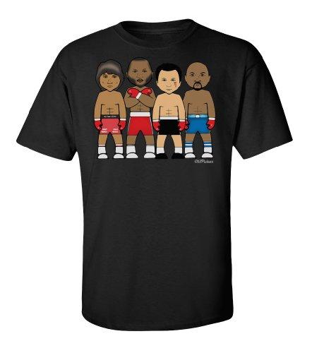VIPwees Boxing middleweight legends Mens Herren cult sport t shirt Schwarz