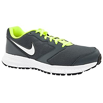 Mens Nike Downshifter 6 dk Grey/Grn/Wht Running Trainers