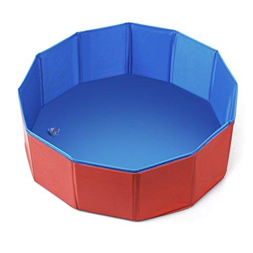 Fuloon Hundepool Tragbar Planschbecken Schwimmbecken für Hunde Katzen Haustiere Badewanne (S)