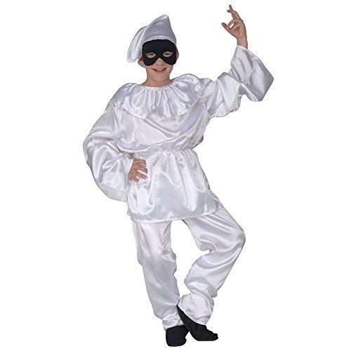 Costume vestito abito travestimento carnevale bambino pulcinella