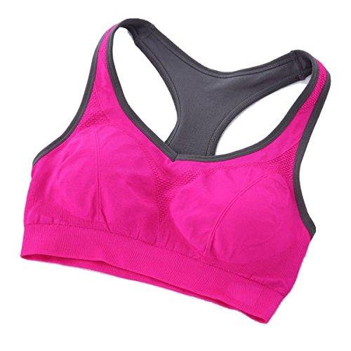 Yoga Fitness Running Sports Bra Sous-vêtements D'exercice Rose