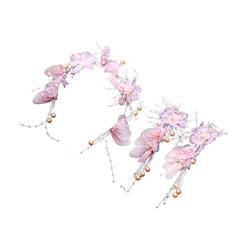 Olici accessori per capelli/sposa/ragazze/donne addio al copricapo design fede gioielli abbigliamento capelli rosa accessori farfalla forcina damigella d'onore di garland
