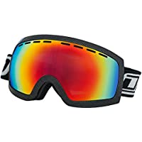 7c92069031c4 Dirty Dog Elevator Adults Mens Womens Ski Goggles in Carbon Black with Red  Fusion Lens