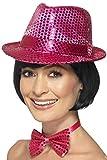 Smiffys Sombrero de fieltro con lentejuelas, Rosa