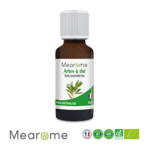 Huile Essentielle de Tea Tree ou Arbre à Thé Bio Mearome - 30 ml - 100% Pure et Naturelle - HEBBD - HECT - Qualité et Fabrication Française