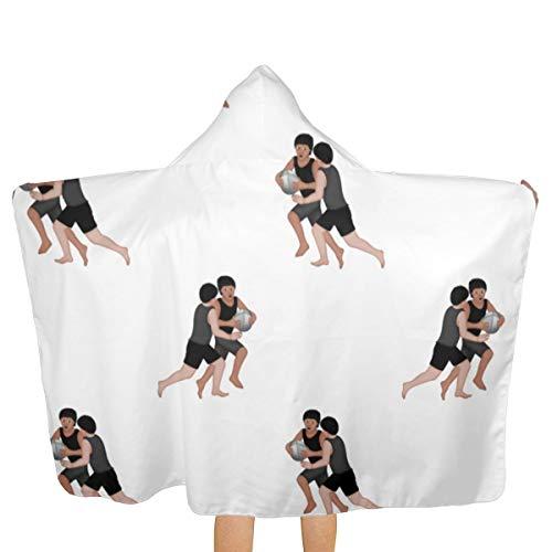 Toalla de baño con capucha de gran tamaño para niños, albornoz de fútbol, rugby, playa,...