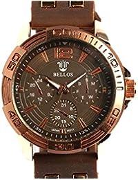 Bellos–Armbanduhr Silikon Braun Lark