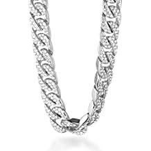 b932570b79d5 Halukakah○ Bling○ Hombres 18k Real Gold Platino Plateado Set de Diamantes  Artificiales de