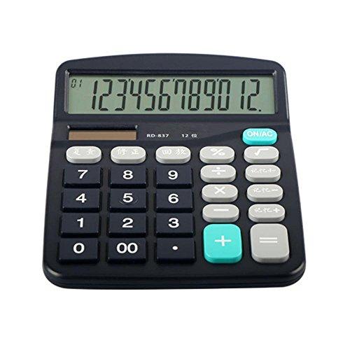 Dixinla Hesap makinesi 12-stellige Anzeige Solar und finanzielle Versorgung Accounting Elektrische Rechner