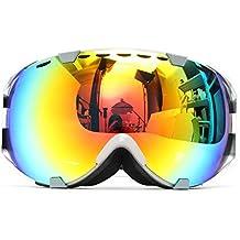 Audew Gafas Esquí Ski Gafas Goggle Lente Doble Snowboard de Sol Professional Anti ...