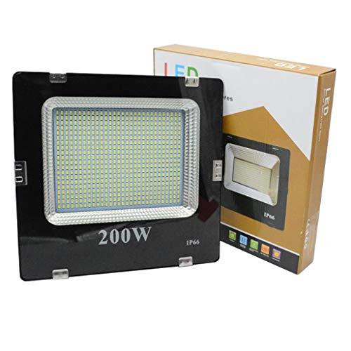 WKZ LED Flutlichtstrahler Flutlicht-Außenarbeitslicht,6500K-Sicherheitslampe IP66 Wasserdicht für Hofspielplatz (watt : 200W)