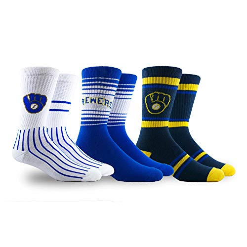 PKWY by Stance MLB Herren Socken Team 3er-Pack, Unisex, Navy, X-Large -