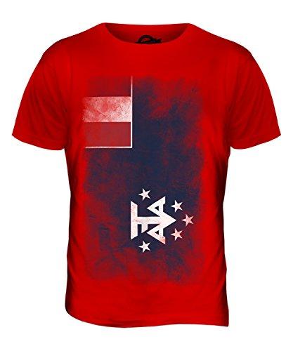 CandyMix Französische Süd- Und Antarktisgebiete Verblichen Flagge Herren T Shirt Rot