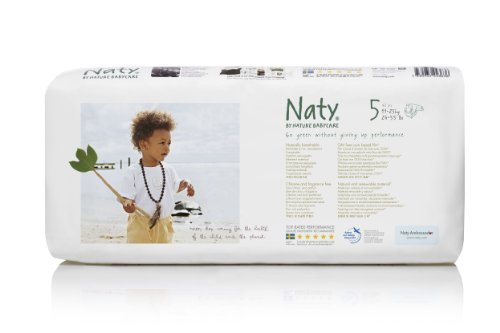 Naty by Nature Babycare Ökowindeln - Größe 5, 11-25 kg, 2er Pack (2 x 42 Stück)