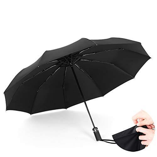 YUNDING Regenschirm Faltbar Tragbare Große Automatik, Winddicht/UV-Schutz/Verstärkung, Kompakt Und...