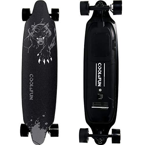 RCB Elektro Skateboard Longboard E Board Elektroroller mit Fernbedienung für Jugendliche 36V 6,6Ah