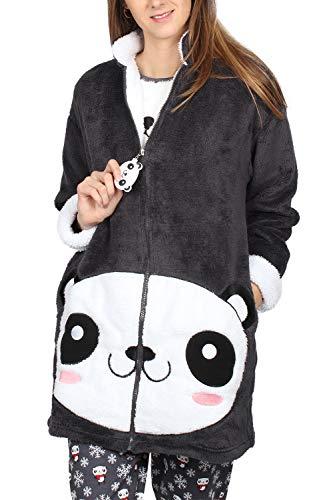 ADMAS Bata Manga Larga Calentita Cool Panda Mujer
