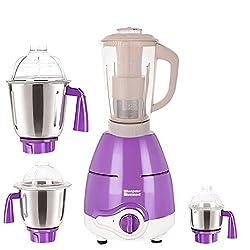 SilentPowerSunmeet Purple Color 600Watts Mixer Juicer Grinder with 4 Jar (1 Juicer Jar with filter, 1 Large Jar, 1 Medium Jar and 1 Chuntey Jar)