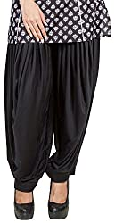 Pietra Girls Viscose Dhoti Salwar (BO0068-L, Black, Large)