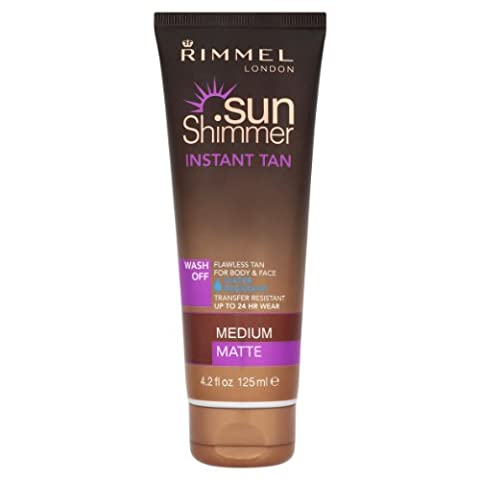 Rimmel Sunshimmer Instant Tan - Medium matte wasserdicht 125ml (Tan Flawless Selbstbräuner)