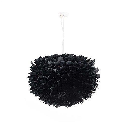 Creative Nordic lanternes cage noir plumes lustre Chambre séjour chaud lustre