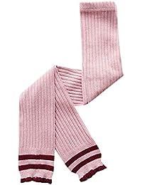 Mitlfuny Niñas Leggings Nueve Puntos Pantalones de Bebé Largo Calcetines Calentador de Pierna Tejer Elásticos Medias Polainas Otoño Invierno Algodón Pantimedias Chicas 1-6 Años Café/Amarillo/Rosa