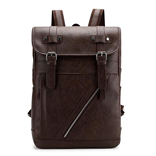 Campus Sac à dos Sac à dos Urbain Fashion Book-Bag Cartables Léger Durable Sac à Dos Sac à Dos Hydrofuge pour Ordinateur Portable Compartiments Poche,Brown