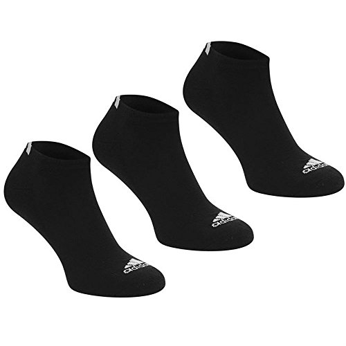 Adidas Socks 3 Pack Sports Golf Ankle Trainer Low Cut Mens Black Size 8 to 12 U.K