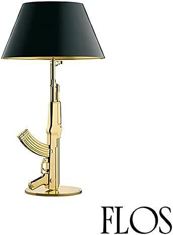 Flos Guns Table Gun Lampada da Tavolo Oro Lucido F2954000 Philippe Strack 2005